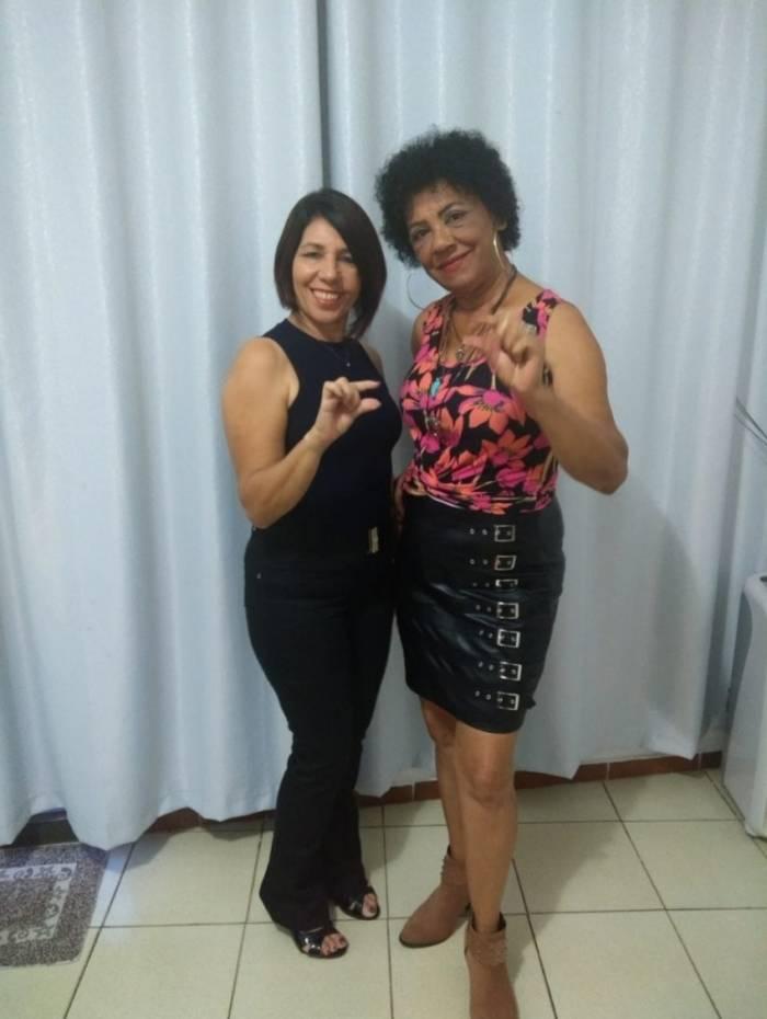 Neiva Jordão (esquerda) e Ivete Garcia (direita) ficaram famosas com o áudio