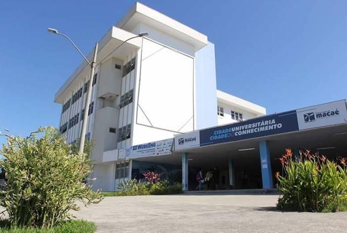 Entrada da Cidade Universitária de Macaé, que recebe a partir de segunda a Semana Acadêmica, sobre tecnologia voltada para a Educação