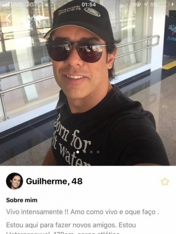 O perfil de Guilherme, dupla de Santiago, em um aplicativo de relacionamento