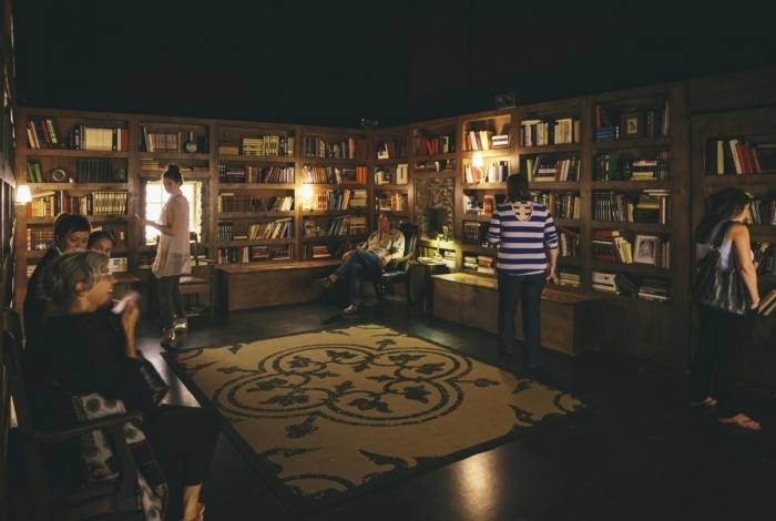 Sesc - exposição Biblioteca à Noite