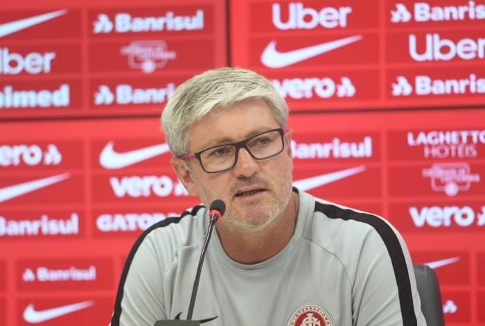 Odair Hellmann, técnico do Internacional: primeiro jogo da decisão da Copa do Brasil na Arena da Baixada