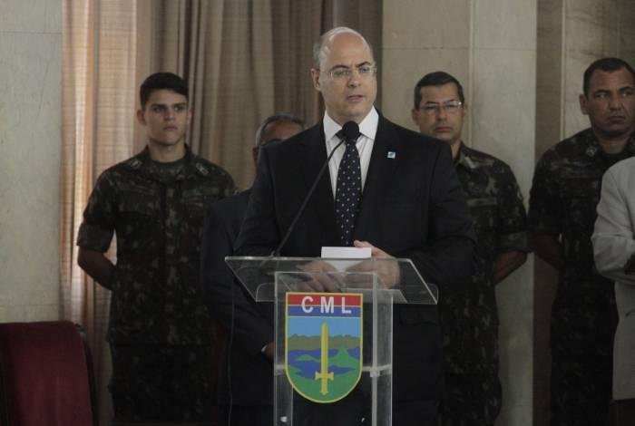 Governador anunciou o aumento do efetivo da PM durante cerimônia no Comando Militar do Leste