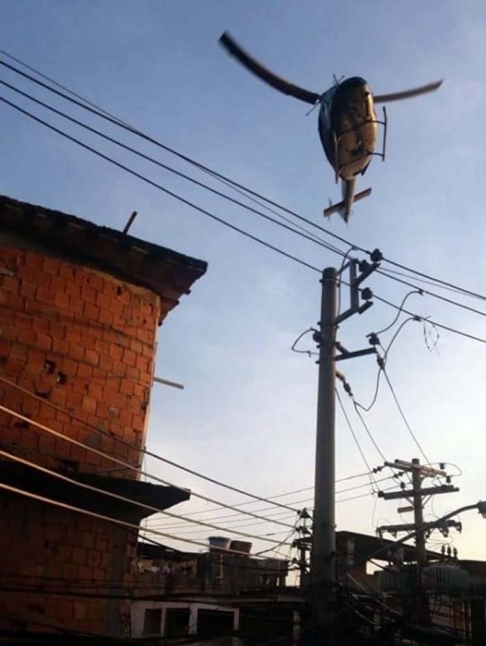 Helicóptero da Polícia Civil participou da operação