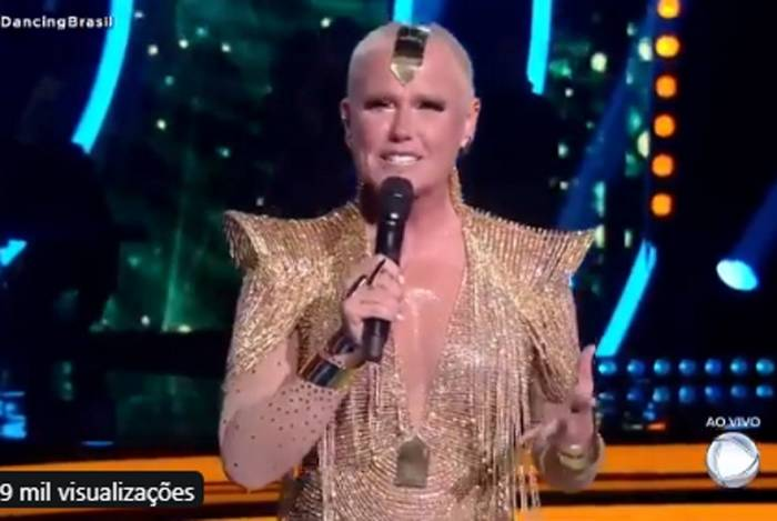 Xuxa na final do reality show 'Dancing Brasil'