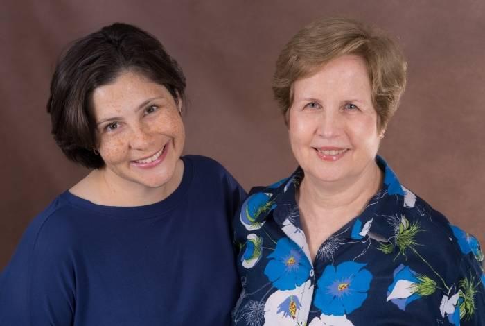 Luciana Lobo e autora Angela Hampshire