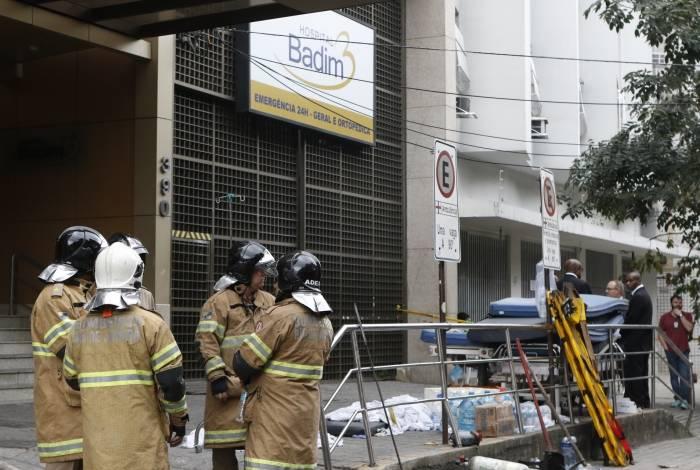 Rio de Janeiro - RJ  - 13/09/2019 - Incendio Hospital - foto: Reginaldo Pimenta / Agencia O Dia