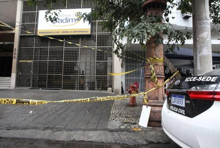 Perícia sendo realizada no Hospital Badim, após incêndio. Foto: Ricardo Cassiano/Agencia O Dia