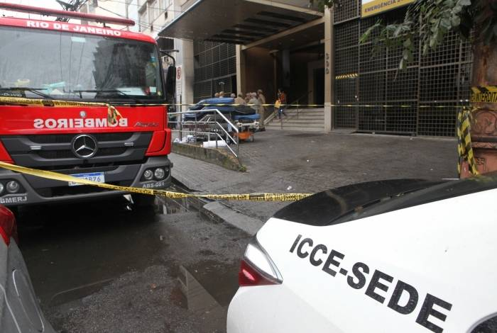 Polícia fez perícia no Hospital Badim