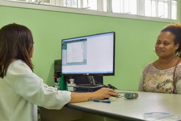 Atendimento eletrônico no Posto de Saúde de São José do Imbassaí