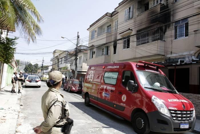 Rio,17/09/2019 -HIGIENOPOLIS- Pai e filho morrem em incendio em apartamento em Higienopolis. na foto, apartamento das vitimas.Foto: Cléber Mendes/Agência O Dia