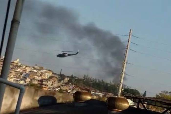 Helicóptero da Polícia Civil participa da operação