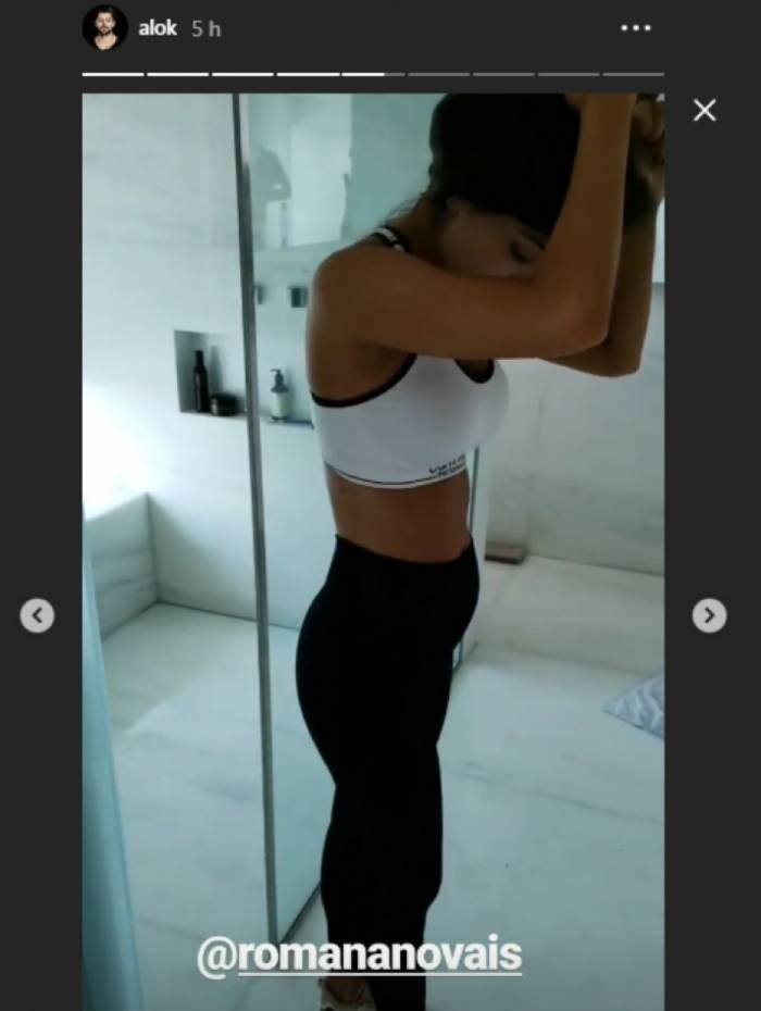 Romana Novais exibe 'mini barriga' com seis meses de gravidez