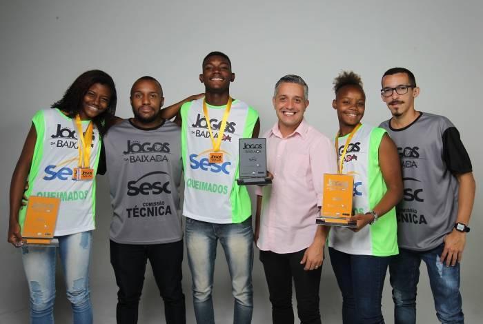 Rio de Janeiro - 18/09/2019 - Jogos da Baixada - Equipe de Mesquita. Foto: Luciano Belford/Agencia O Dia