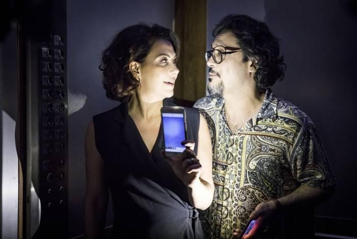 Nana ( Fabiula Nascimento ) e Mario ( Lucio Mauro Filho )