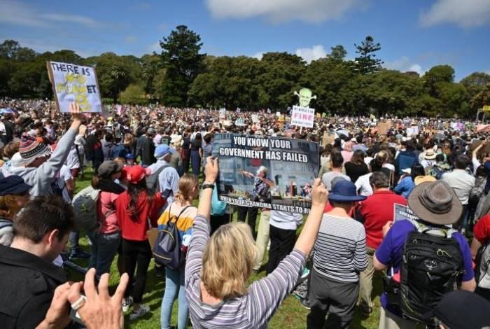 Manifestação pelo clima na Austrália
