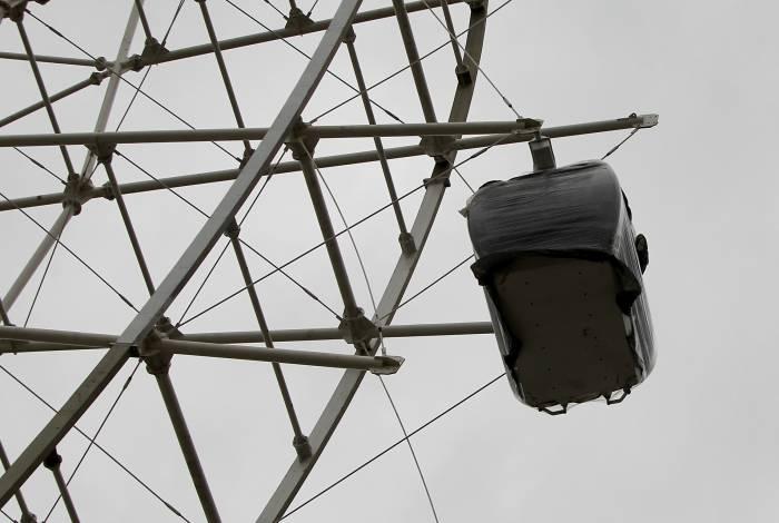 Uma das gôndolas instaladas na roda: inauguração em novembro