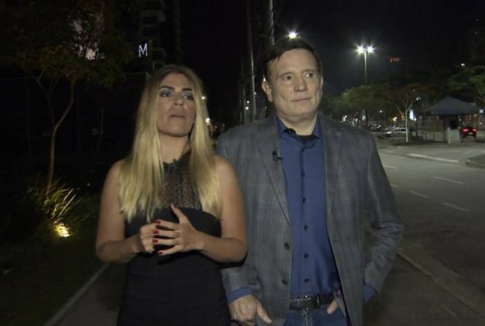Roberto Cabrini reencontra Bruna Surfistinha