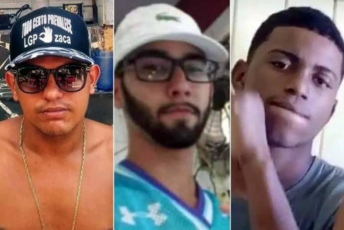 'Zaca' (à esquerda), 'S3' e 'Pretinho' (à direita): mortos no confronto