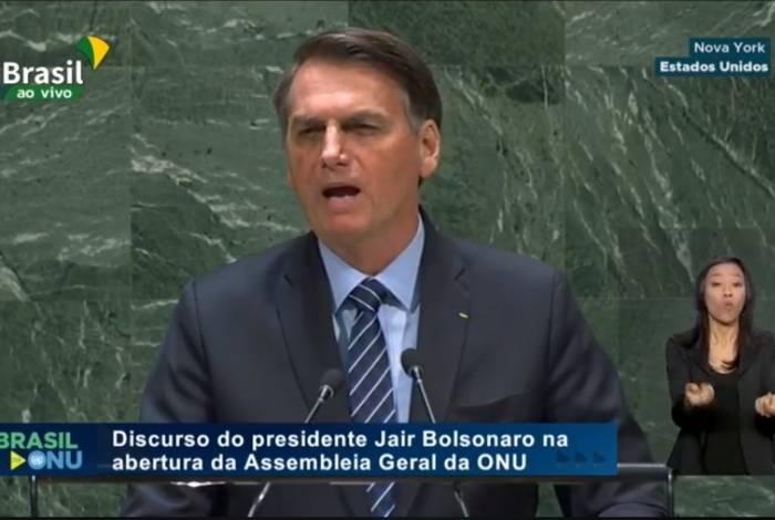 Presidente Jair Bolsonaro abre os debates da 74ª Assembleia Geral das Nações Unidas (ONU), na sede da organização, em Nova York, nos Estados Unidos