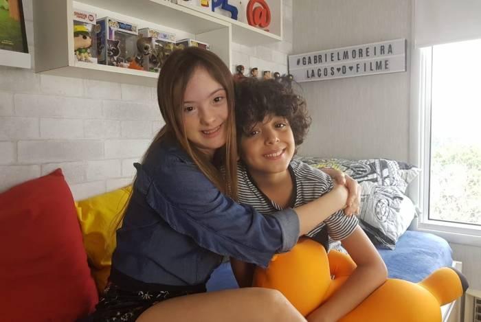 Gabriel Moreira e Maria Júlia