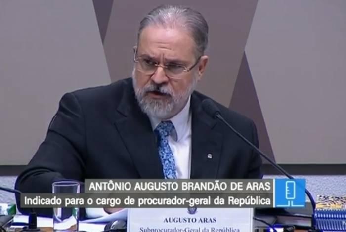 Augusto Aras em sabatina na CCJ
