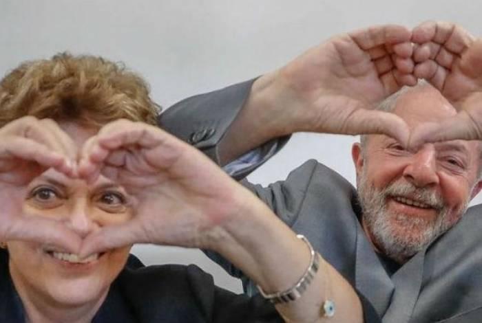 Após anúncio de aplicativo, internautas passaram a compartilhar foto de Dilma Rousseff e Lula
