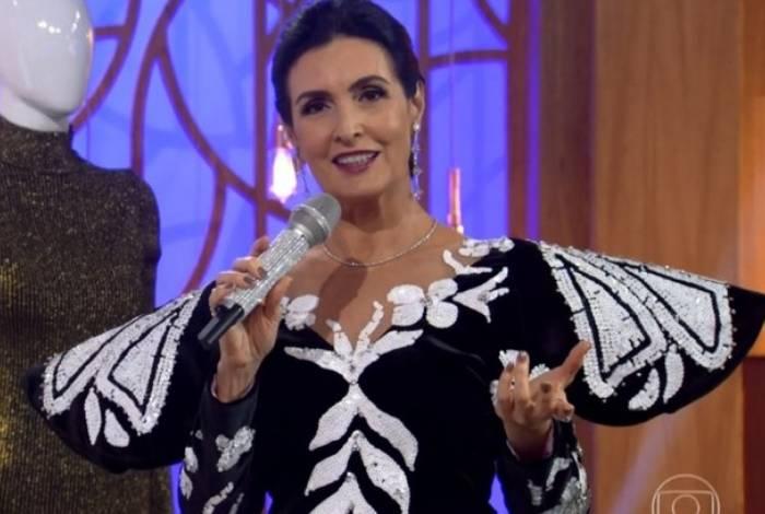 Fátima Bernardes usou figurino de Hebe para homenagear apresentadora no 'Encontro'