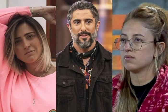 Tati Dias (à esquerda) insinua que Bifão (à direita) já se relacionou com Marcos Mion e causa revolta na web