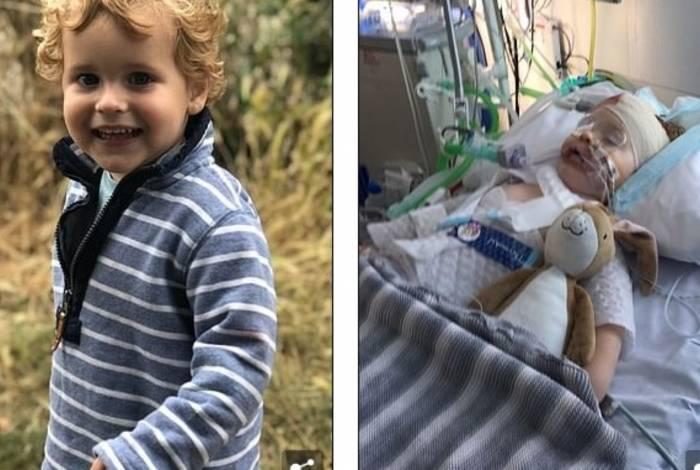 Henry, de dois anos, passou uma semana em coma induzido