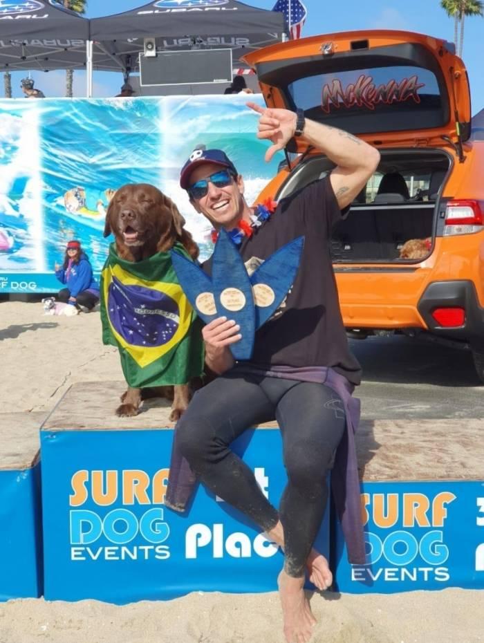 Bono e Ivan conquistaram o pentacampeonato de surf na Califórnia