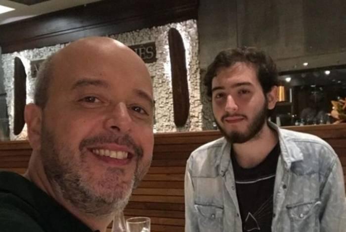Alex Escobar e o filho Pedro