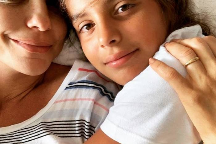 Ivete e o filho mais velho, Marcelo Sangalo