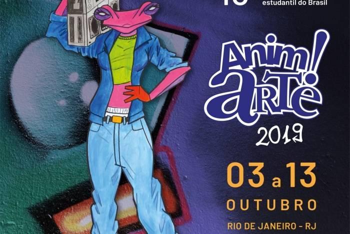 Cartaz de divulgação da Anim!Arte