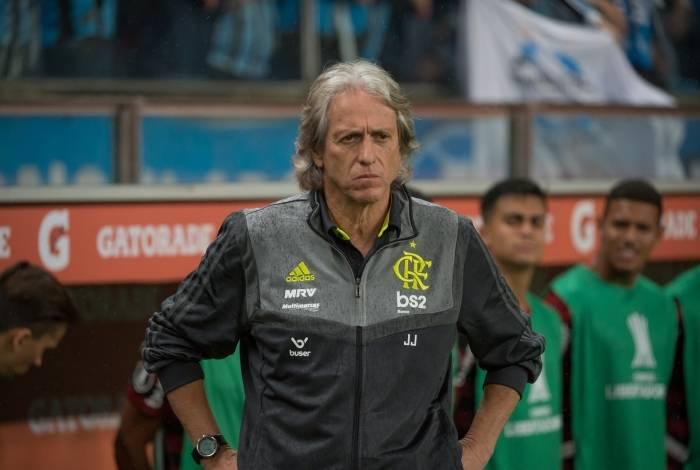 O técnico do Flamengo Jorge Jesus