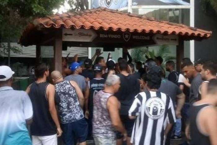 Protesto no Botafogo