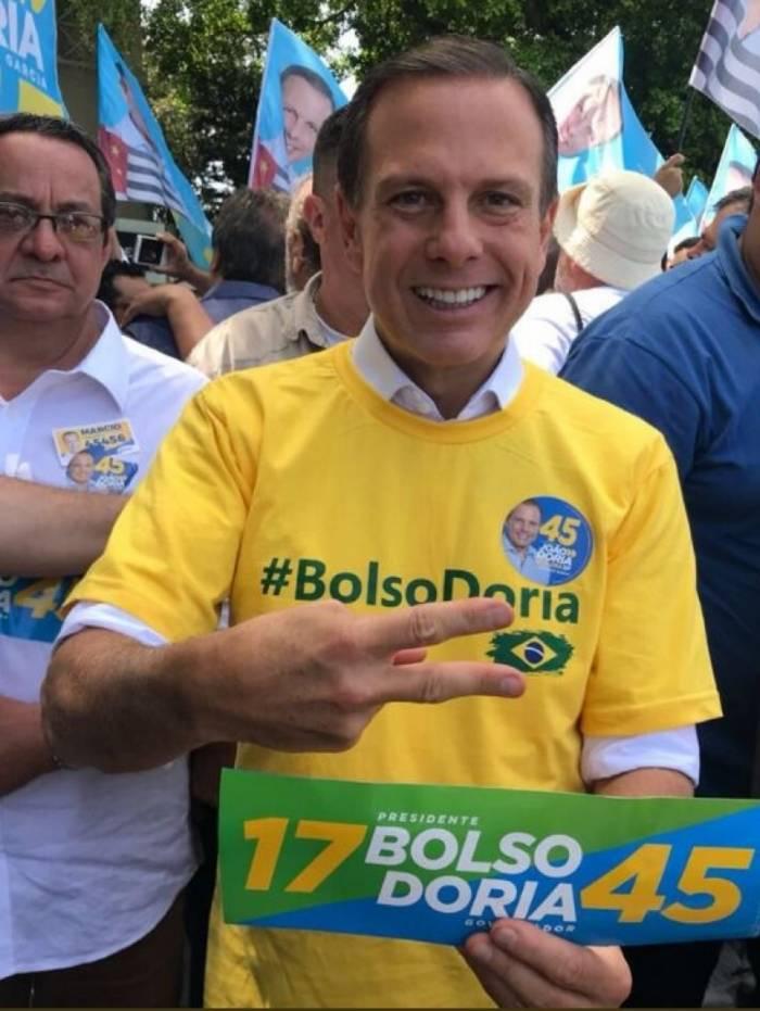 João Doria se aproximou de Bolsonaro nas eleições de 2018