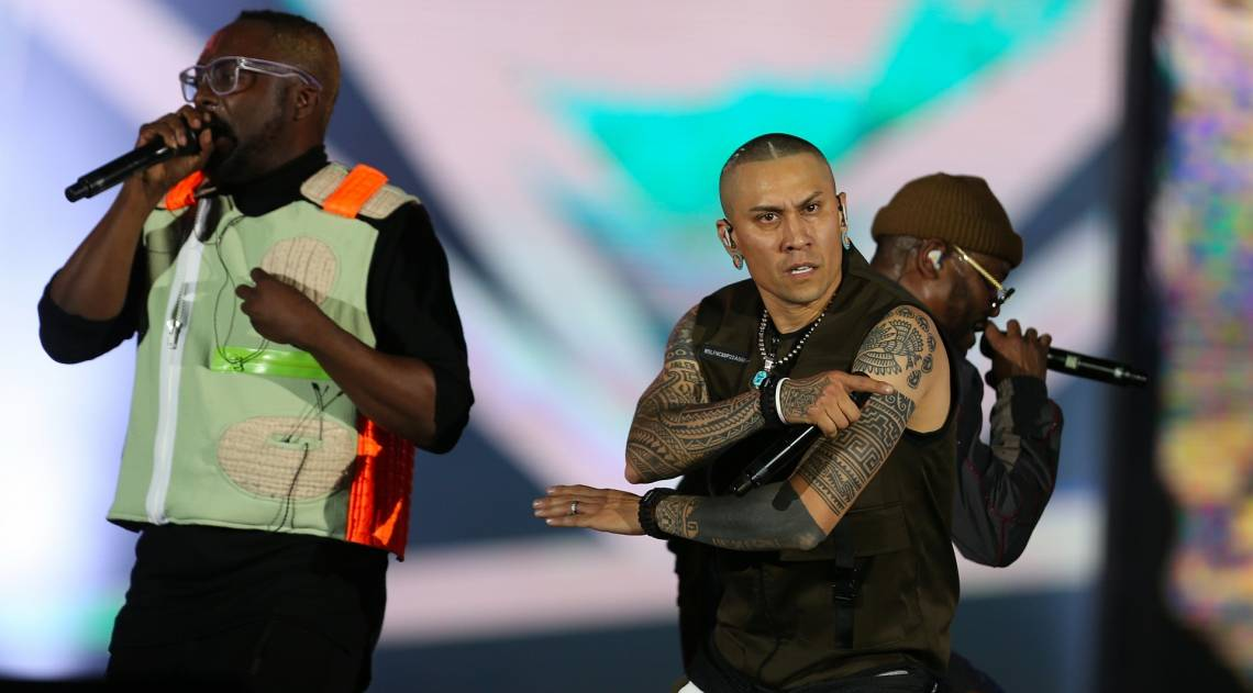 Black Eyed Peas no palco Mundo