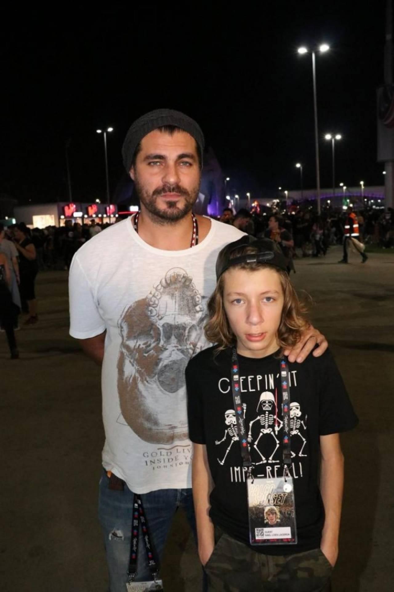 Thiago Lacerda E Rafael Queiroz Levam Os Filhos Para Curtir Noite De Heavy Metal No Rir Istoe Independente