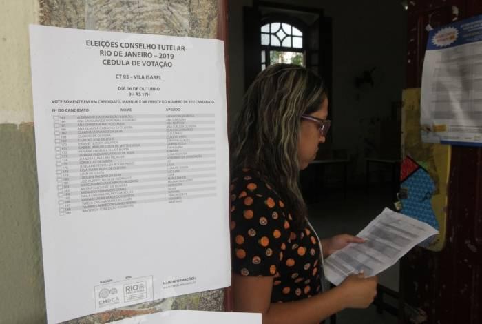 Eleitores participaram de votação para Conselho Tutelar, na Tijuca