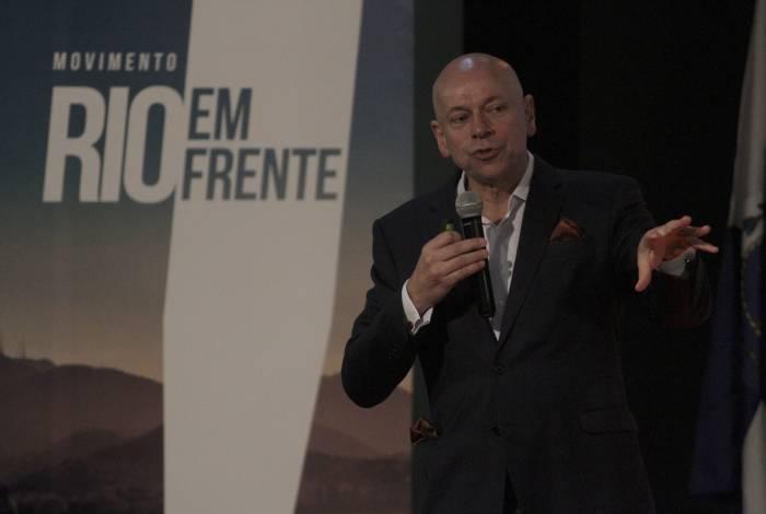 O historiador Leandro Karnal durante palestra no auditório da Fecomércio RJ: 'Nunca antes tivemos empresários e políticos presos no país'
