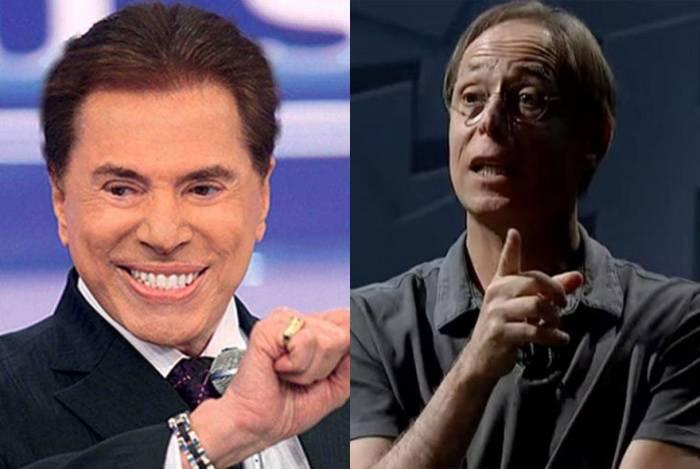 Pedro Cardoso (à direita) ataca Silvio Santos