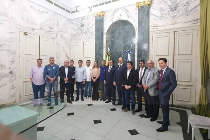 Witzel recebeu Rodrigo Maia e parlamentares do DEM na segunda-feira, no Palácio Guanabara