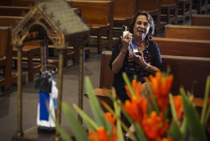 Na Paróquia da Ressurreição, em Ipanema: Maria Christina Sá, de 87 anos, conviveu com Irmã Dulce na década de 1960, na Bahia