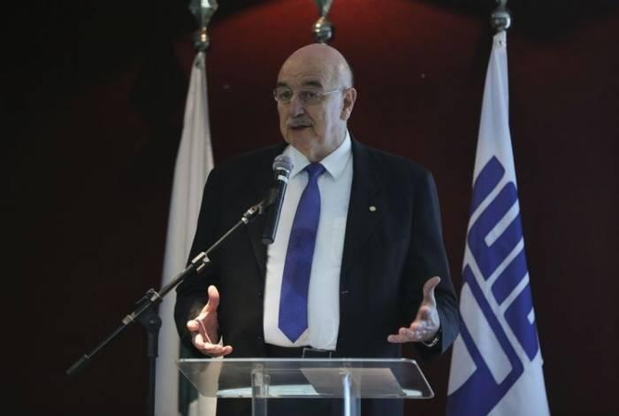 O ministro da Cidadania, Osmar Terra, durante lançamento de  vídeos que objetivam passar informações ao público com deficiência sobre seus direitos, parceira entre o CIEE e o Ministério da Cidadania