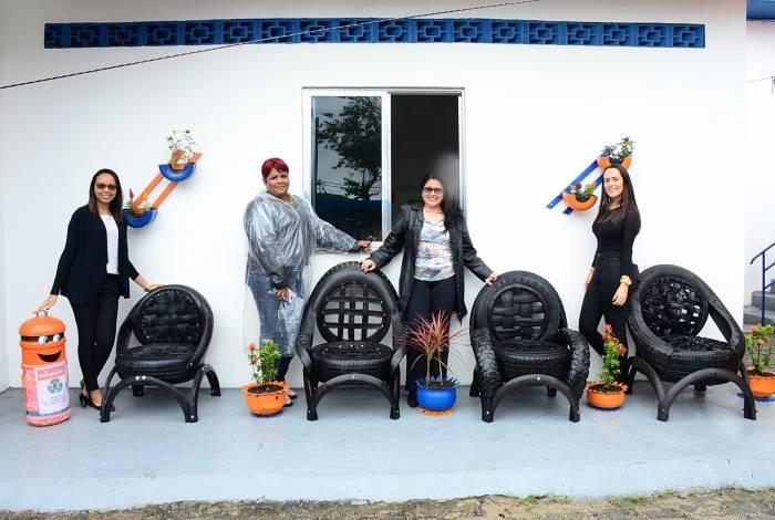 Pneus reciclados podem se transformar em cadeiras