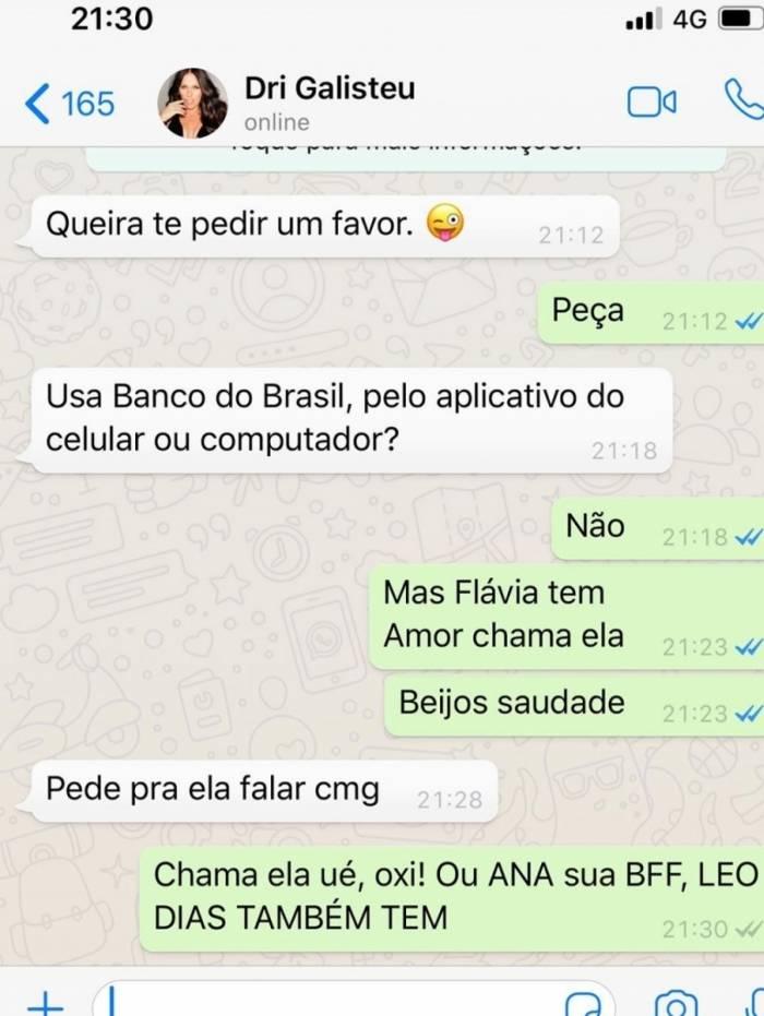 David Brazil recebe mensagem clonada de Adriane Galisteu