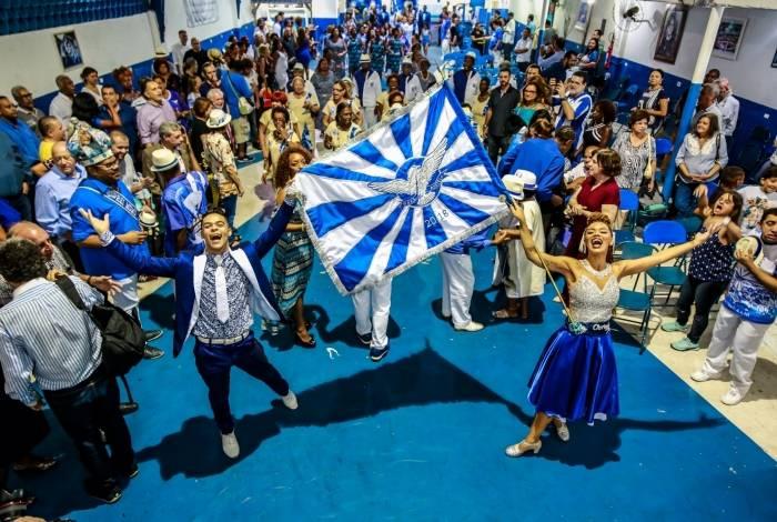 Portela: mestre-sala Marlon Lamar e porta-bandeira Lucinha Nobre