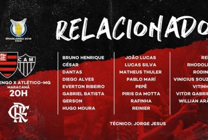 Flamengo enfrenta o Atlético-MG