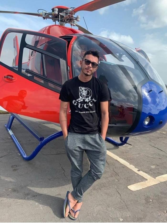 Suspeito de liderar organização criminosa passeava de helicóptero