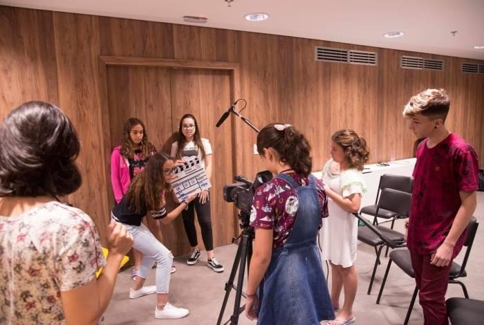 Crianças e adolescentes receberam noções de produção audiovisual
